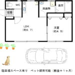ペット相談(小型犬)立川市砂川町1LDKの賃貸戸建物件駐車場スペースあり